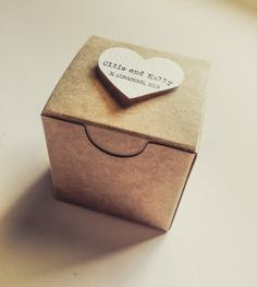 Handmade Grocer bag Favor box  handmade  Natural by AnnsPaperie, $1.10