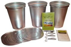 Maple Sap Collection Starter Kit with Aluminum Buckets. Directions included with instructions on correctly boiling down to syrup.