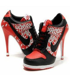 Trainer Tuesday: high heeled Nike Dunks  Too funny!!!!:)
