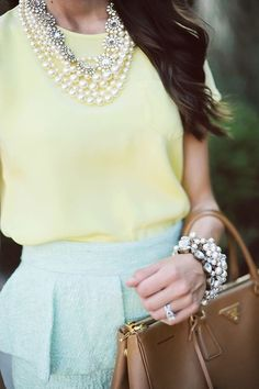 Pastels are huge this season! Mix with metallics and shades of brown. Tweaked Style can't wait for Spring!