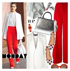 """#BAPmix Monday Go-Getter"" by bagsaporter ❤ liked on Polyvore featuring Monday, STELLA McCARTNEY, Dolce&Gabbana, Dogpile, Burberry, Fendi, Alexander McQueen, Prada, Charlotte Olympia and Versace"