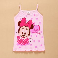 >> Click to Buy << Lovely Summer Baby kids girl Minnie Tank tops toddler children girls Vest vetement fille Undershirt Camisole Tees enfant clothes #Affiliate