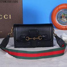 a402c2bd01f4 Gucci Lady Web Leather Convertible Wallet 382275 Black. Amankahle · Gucci  Shoulder Bags