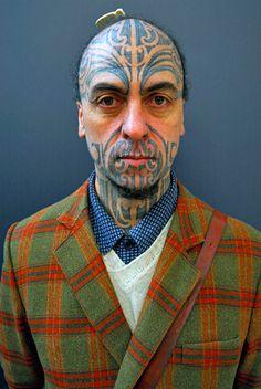 George Nuku is a Maori master carver, sculptor artist and bearer of Ta Moko (traditional Maori tattoo). Jacket!