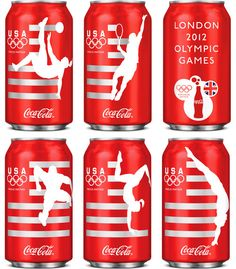 "2012 Olympic-themed Coca-Cola cans. Because nothing says ""athletic performance"" like drinking toxins from a can. Seriously, America, WTH."
