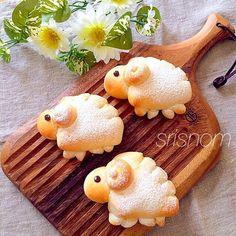 Japanese Bread, Japanese Sweets, Bento Recipes, Easter Recipes, Desserts Japonais, Cute Food, Yummy Food, Kreative Snacks, Chocolate Custard