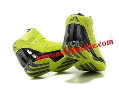 Adidas AdiZero Rose 3.0 Shoes Fluorescent Green/Black