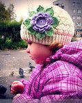 Мобильный LiveInternet Детская шапочка связанная крючком с большим цветком | Ирина_Зелёная - Всё самое модное, интересное и вкусное вы найдёте у perchica |
