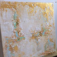Sold!!!!! Abstract Gold Leaf Painting