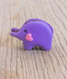Blueberry Elephant Macaroons - too cute! :)