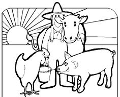 Farm Animals Coloring Page Beautiful Farm Preschool theme Crafts Zoo Animal Coloring Pages, Batman Coloring Pages, Coloring Pages Winter, Farm Animal Coloring Pages, Coloring Pages For Kids, Animal Pictures To Color, Farm Animals Pictures, Baby Farm Animals, Barnyard Animals