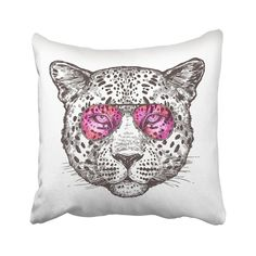 Black Animal Sketch Hand Drawn Leopard Head With Sunglasses Hipster Jaguar Africa African Pillowcase Pillow Cover inch Contemporary Pillows, Animal Sketches, Black Animals, Jaguar, Hand Drawn, Pillow Covers, How To Draw Hands, Core, Boards