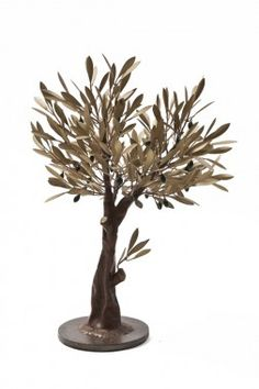 Golden olive tree