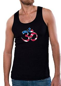 Yoga Clothing For You Mens Patriotic OM Tank Top Shirt