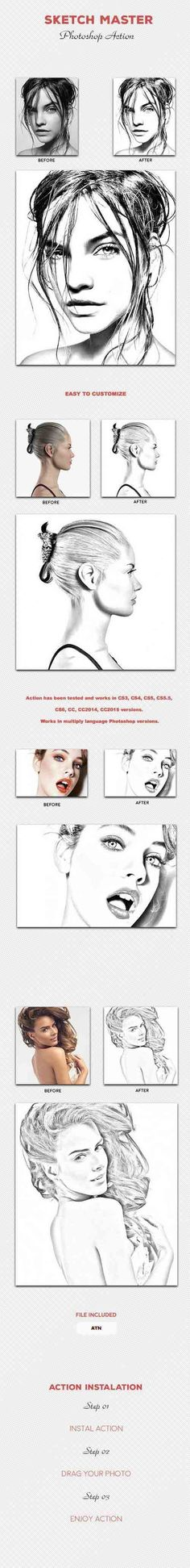 GR – Sketch Master – Photoshop Action 15970140 » HeroGFX Graphic Design