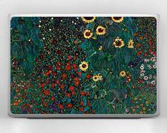 Items similar to Gustav Klimt art Sunflower print universal laptop decal acer chromebook 15 skin dell 13 inch cover lenovo yoga cover ASUS ZenBook Pro hp 14 on Etsy Klimt Art, Gustav Klimt, Macbook Stickers, Sunflower Print, Glitch Art, Chromebook, Laptop Decal, Acer, Laptop Skin