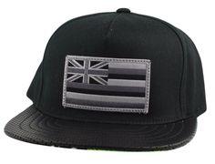 BESPOKE CUT AND SEW Custom Hawaiian Flag Patch Snapback Cap