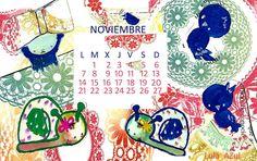 Apuntes de colores: calendario noviembre 2016