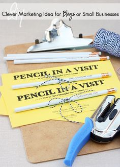 Pencil in a Visit Promotion -- easy and inexpensive marketing for small businesses and bloggers!