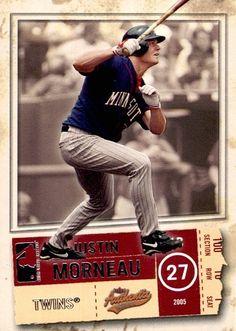 Justin Moneau Minnesota Twins, Mlb, The Row, Baseball Cards, Sports, Hs Sports, Sport