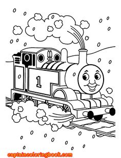 Thomas Train Coloring Book Pages Printable For Kidsfree Online Cartoon Print Out Kindergarten