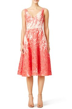 Rent Coral Metallic Dress by Josie Natori for $275 only at Rent the Runway.