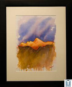 Oposites, original watercolor by Jesus F. Moreno