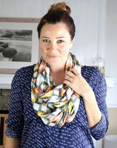 Learn how to sew a simple infinity scarf out of soft and stretchy jersey   The Spoonflower Blog