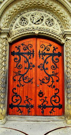 Beautiful Ornate Door, University of Toronto