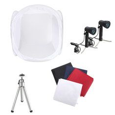 30 Inch Photo Photography Tent Shooting Box Softbox Studio Kit Set With Light And Tripod