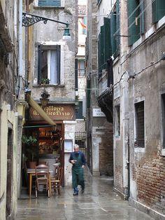Rainy Day in Venice.  ~Repinned Via John Biccard