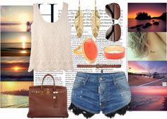 """Romantic Beach Walk!:)♥"" by eboony800 on Polyvore"