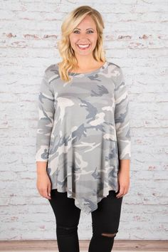 Can't See Me Top, Heather Gray