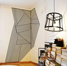 un papier peint leroy merlin geometrique de couleur blanc et noir