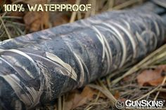 Besides offering concealment and looking awesome, #gunskins have other features, including being #waterproof. Rain or shine, these skins will protect the surface of your gun when properly installed. #shotgun #waterfowl