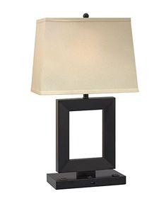 Gentil Complements Lighting 27 Inch 150 Watt Black Desk Lamp With 1 USB Port