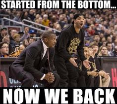 Drake watching the Toronto Raptors getting eliminated from the... - http://nbafunnymeme.com/uncategorized/drake-watching-the-toronto-raptors-getting-eliminated-from-the