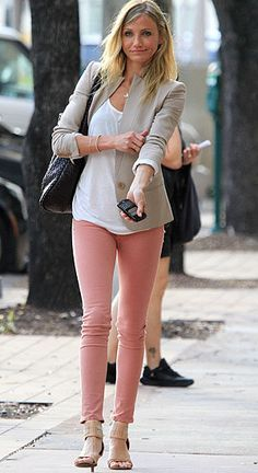 Bought blush colored skinny jeans today for springtime!