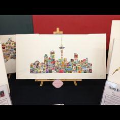 Aukland skyline stamps