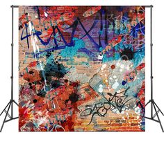 LIFE MAGIC BOX Graffiti Backdrops Backgrounds for Photography Vinyl Photoshoot Vintage Wallpapers 4
