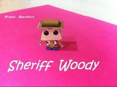 Paper Toys. Origami - Papiroflexia. Sheriff Woody, Toy Story.