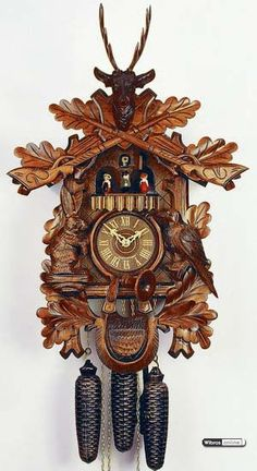 Cuckoo Clock 1-day-movement Carved-Style 51cm by Rombach & Haas $596.00 including worldwide shipping