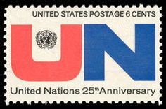1970 6c United Nations, 25th Anniversary Scott 1419 Mint F/VF NH
