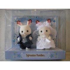 Sylvanian-Families-Baby-Pair-Wedding-Chocolate-Rabbit-Japan-Calico-Critters