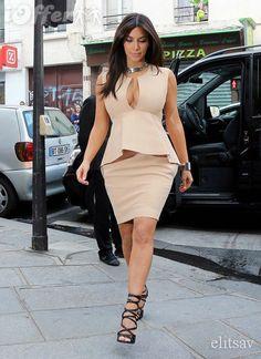 kim-kardashian-celebrity-beige-peplum-dress-d251