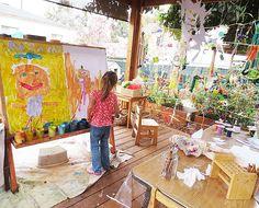 Al aire libre se crea mejor! #estudiosdearte #dibujos #niños