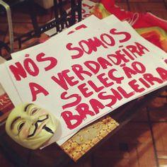 'We're the real Brazilian national team.' #changebrazil #vemprarua