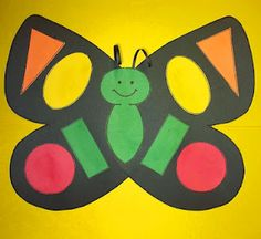 Butterfly glyph with shapes and symmetry