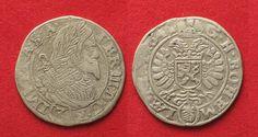1641 Haus Habsburg BOHEMIA Groschen (3 Kreuzer) 1641 Prag FERDINAND III silver VF # 90192 ss