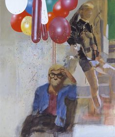 Peter Blake 'Portrait of David Hockney in a Hollywood Spanish Interior', 1965 © Peter Blake All rights reserved, DACS David Hockney, Art Pop, Richard Hamilton, James Rosenquist, Spanish Interior, Peter Blake, Claes Oldenburg, Original Paintings For Sale, Jasper Johns